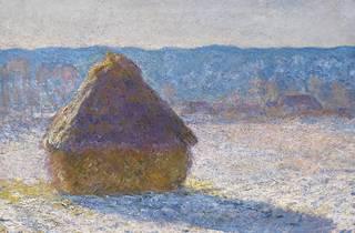 Claude Monet, 'Grainstack (Snow Effect)' 1891. Oil on canvas, 65.4 x 92.4 cm. Museum of Fine Arts, Boston.