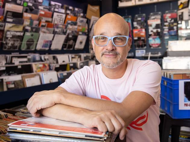 Stephan Gyory The Record Store owner in his shop