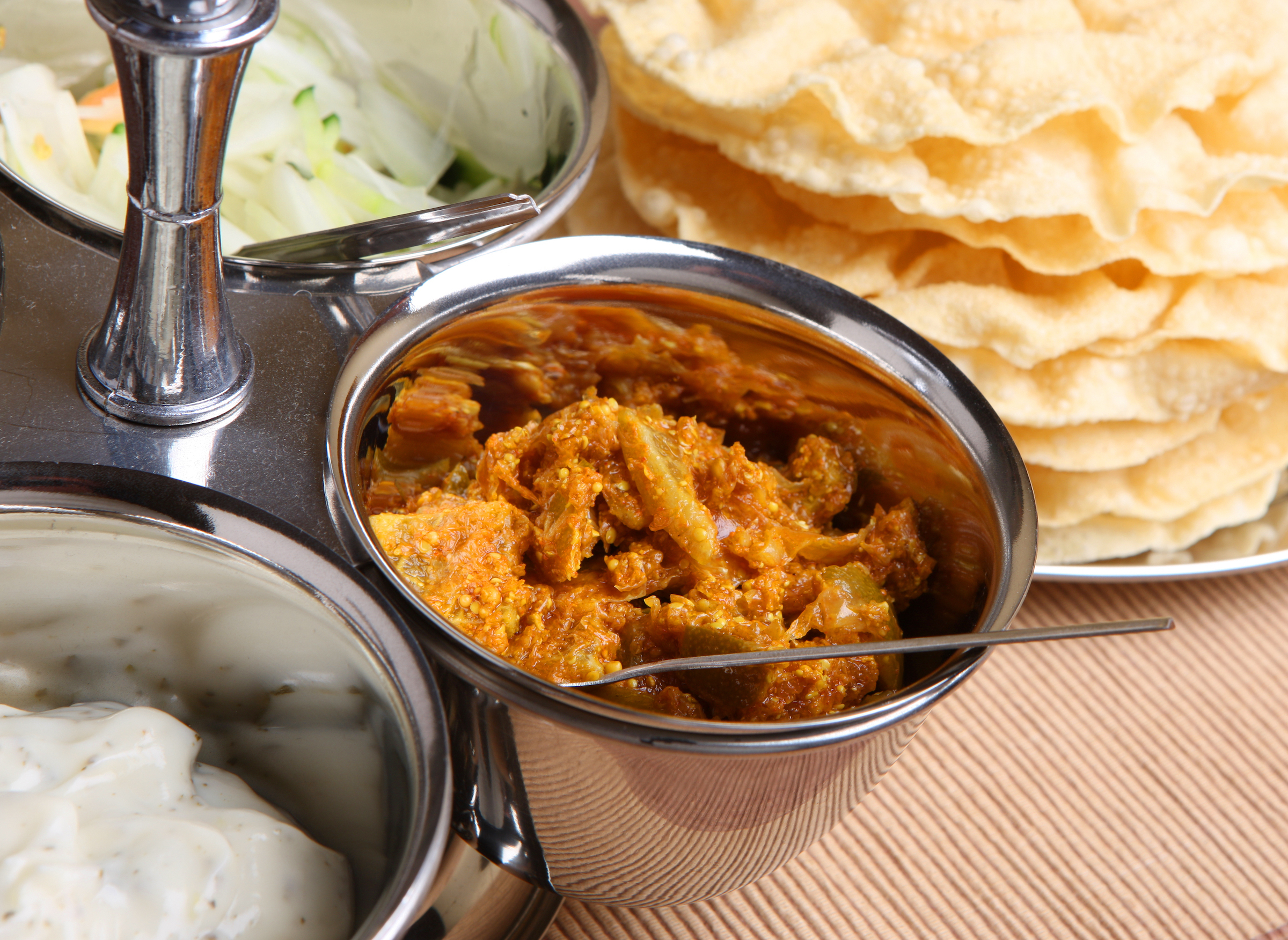 Indian Lime pickle with poppadoms