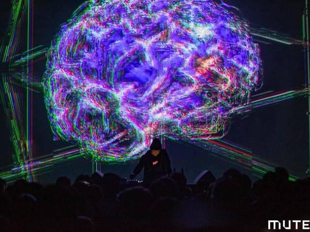 Daito Manabe + Kamitani Lab《dissonant imaginary》2019年 Performance view at MUTEK.JP 2019[参考図版]