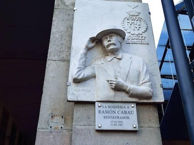 Ramon Cabau en la Boqueria