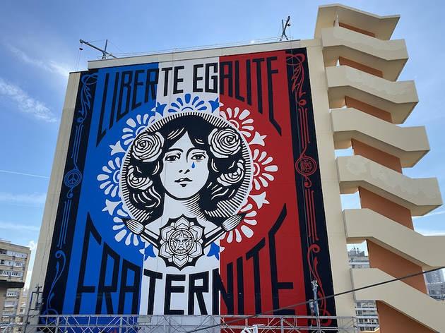 ©  The Liberté la nouvelle sérigraphie de Shepard Fairey