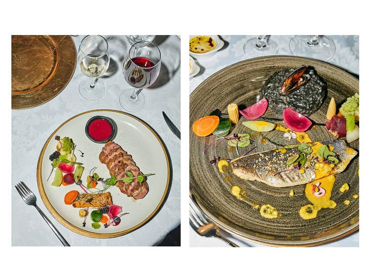Jantar no restaurante do Forte