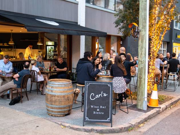 Outside of Carl's Wine Bar in Brisbane