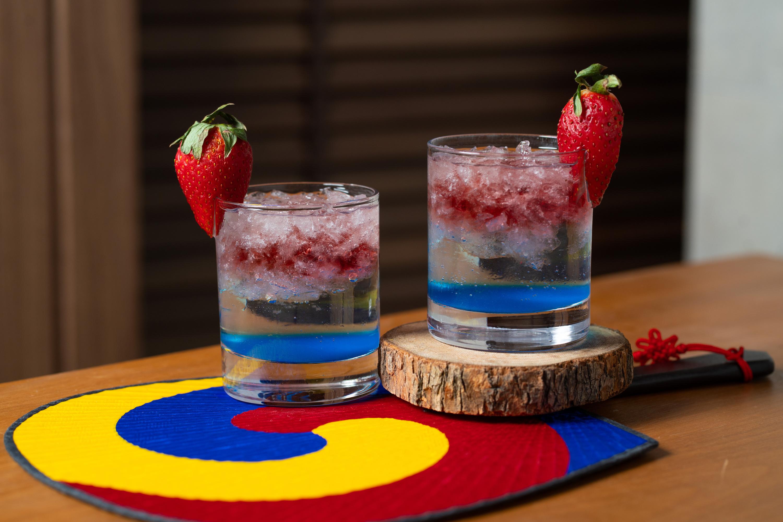 The Farmhouse Soju Popper cocktails