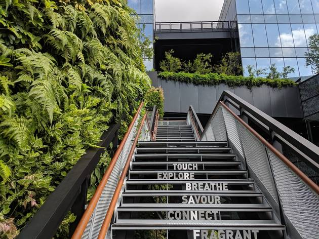 Shopping malls in Singapore with hidden green spaces