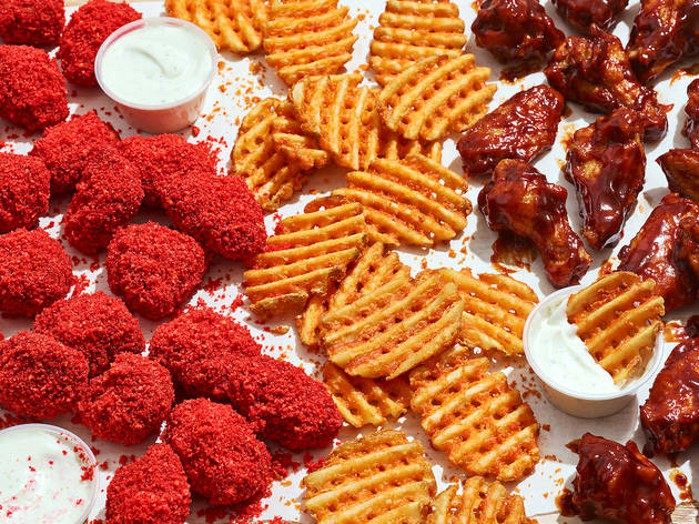 This new delivery-only chain specializes in Cheeto-flavored wings