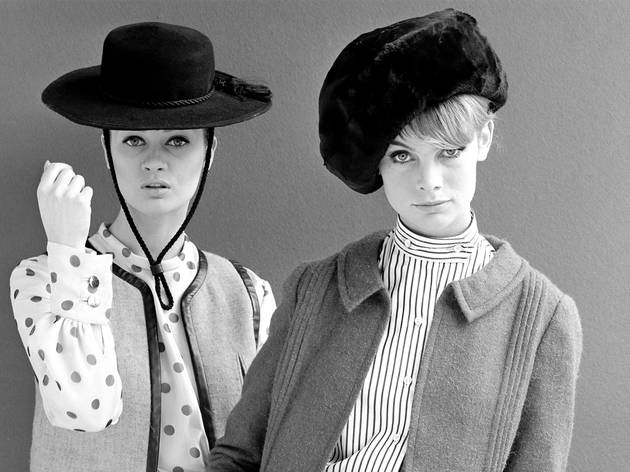 Mary Quant (Photograph: Celia Hammond modelling 'Coal Heaver' (left) and Jean Shrimpton (right), 1962 Photograph by John French © John French / Victoria and Albert Museum, London)