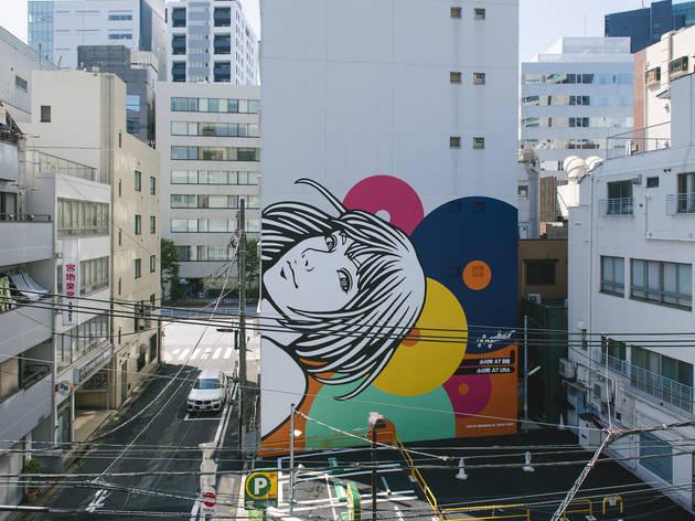 Hogalee《Landmark Art Girl》2020、千代田区神田小川町、Photo by YUKAI