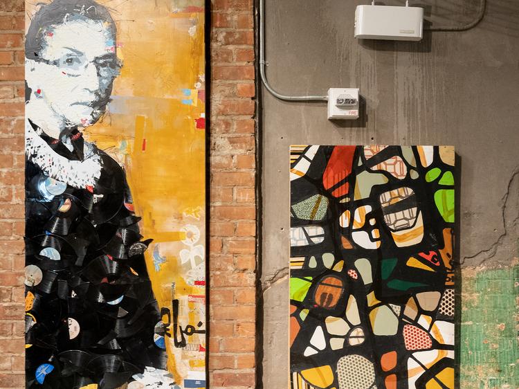 Seven-foot-tall portraits at Chelsea Market