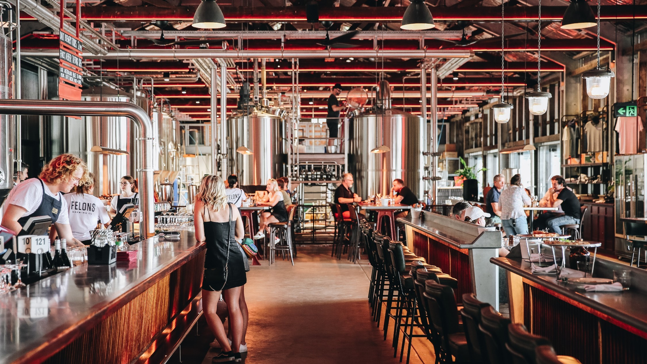 Felons Brewing Co beer hall in Brisbane