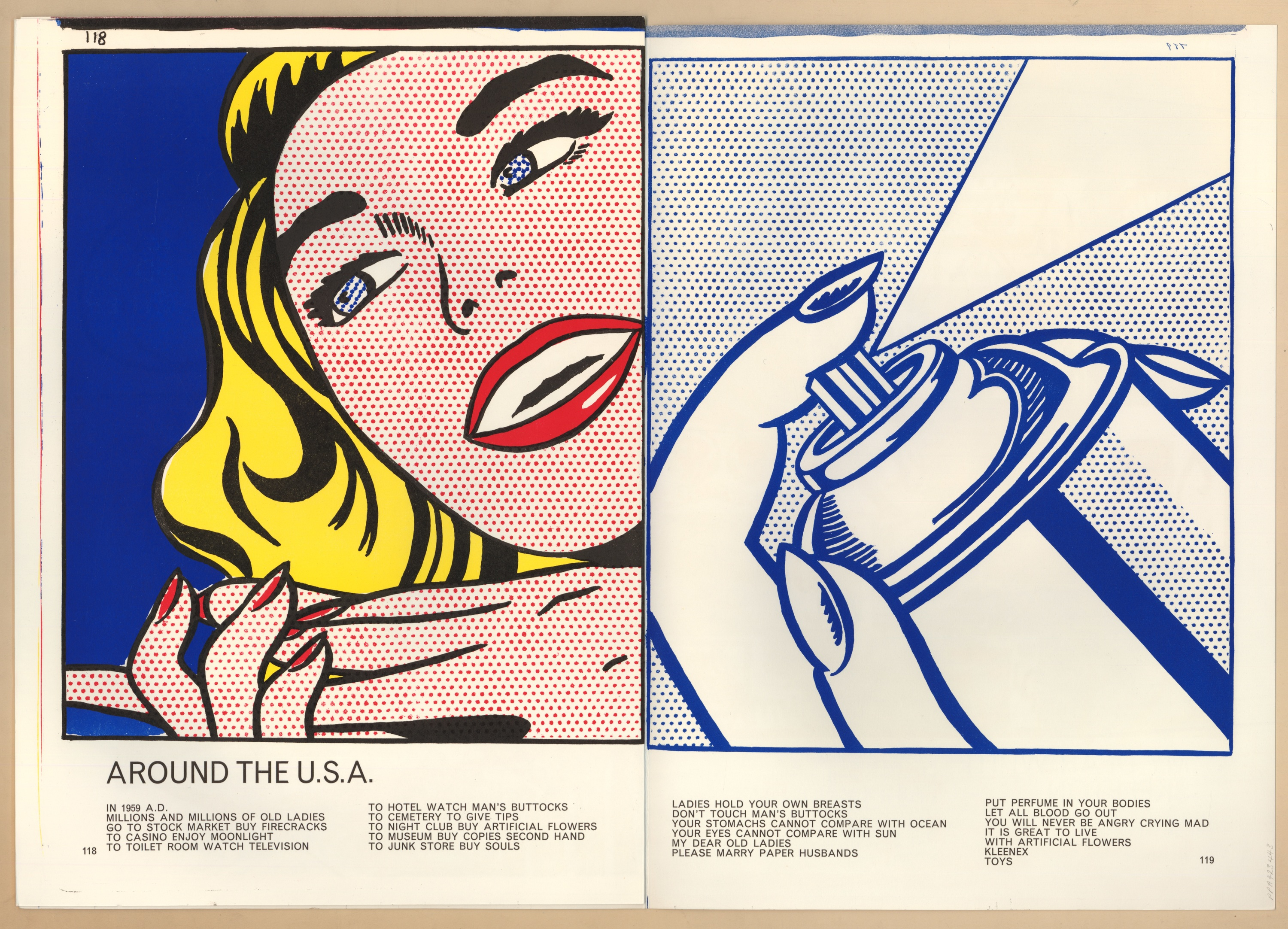 Girl/Spray Can from Walasse Ting. 1 ¢ Life, 1963, de Roy Lichtenstein