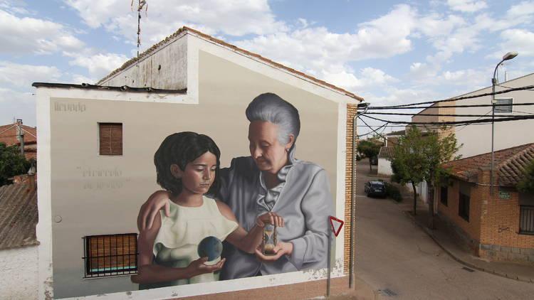 Mural de Colectivo Licuado en Alfamén, Zaragoza