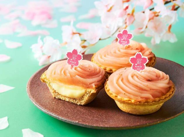 Pablo Mini sakura mochi cheese tart