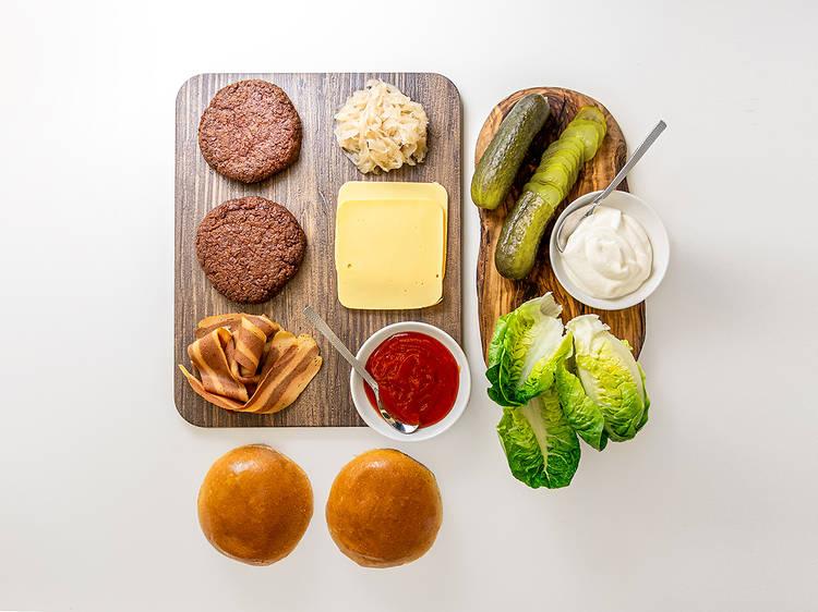 Rudy's Vegan Diner, Dirty Burger DIY kit