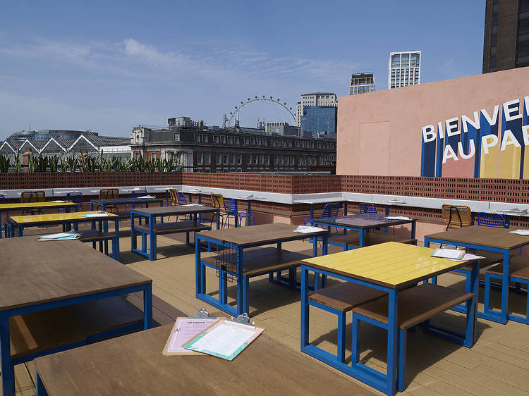 Have rooftop bottomless brunch at Bar Elba