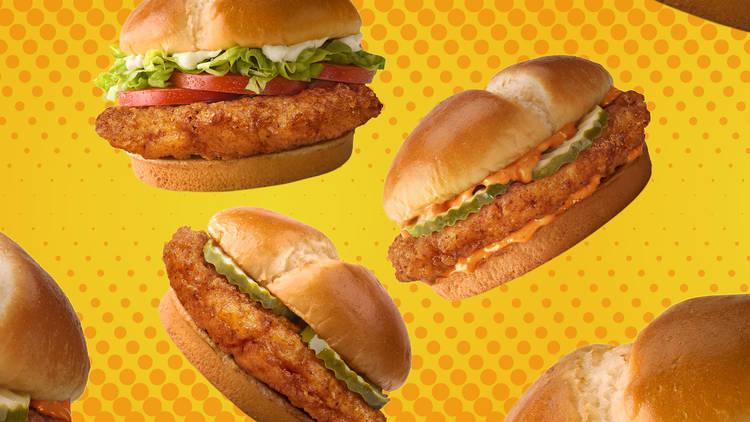 McDonald's crispy chicken sandwiches