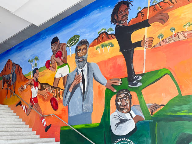 The MCA has unveiled its incredible new foyer mural by Archibald-winner Vincent Namatjira