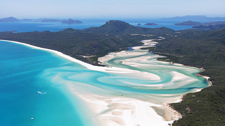 Playa Whitehaven, en Australia