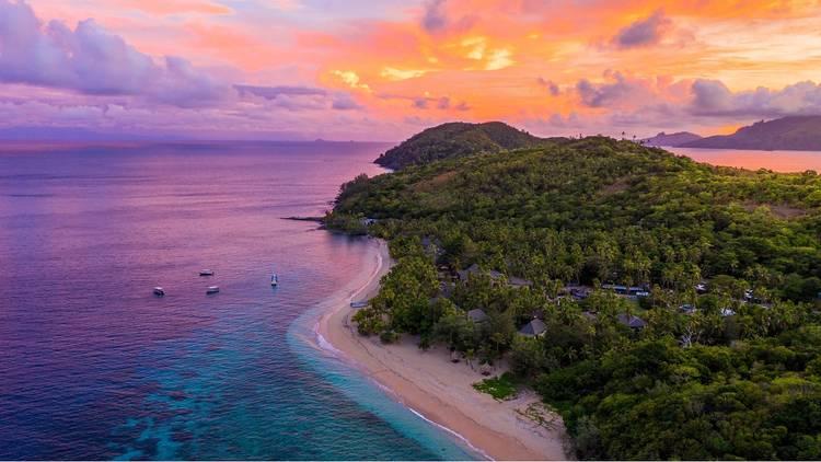 A sunset in Fiji