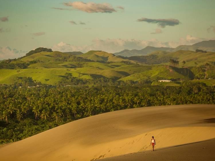 Explore a gigantic dune system
