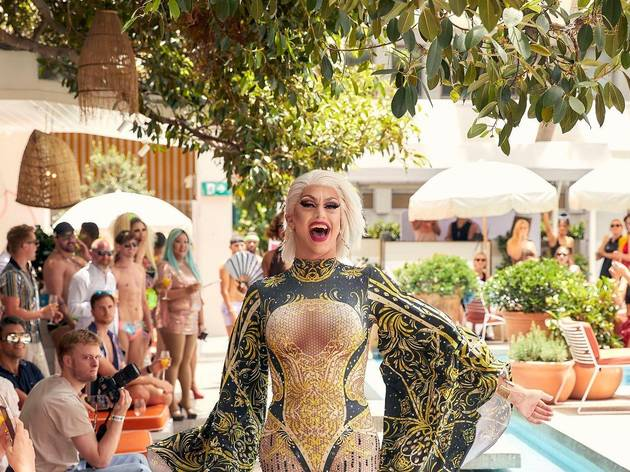 Drag queen performs at Drag Brunch at Ivy Pool Club