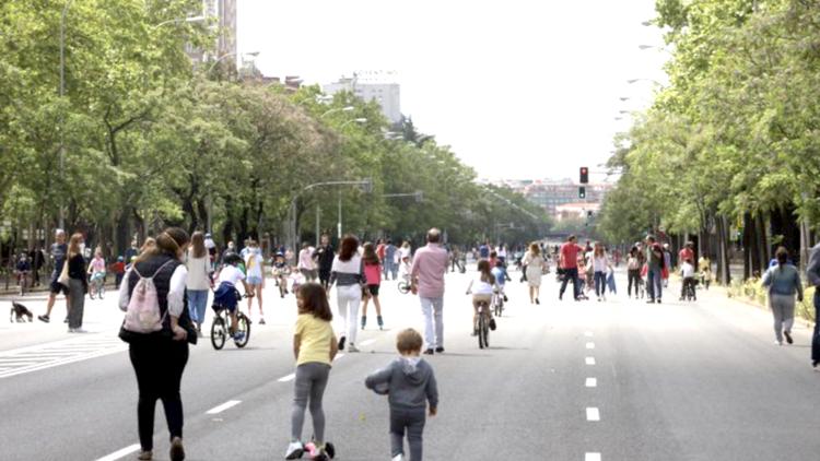 Calles cortadas peatonales