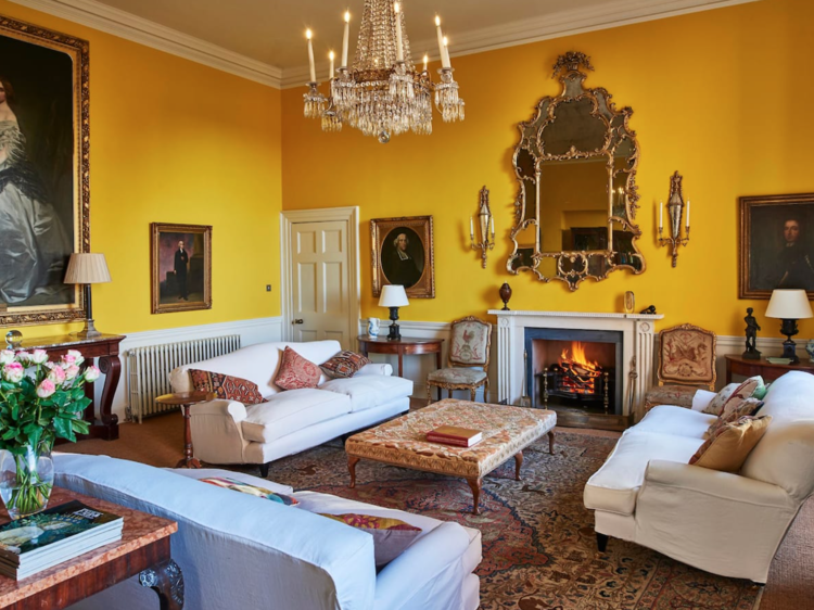 The colourful stately home in Norfolk