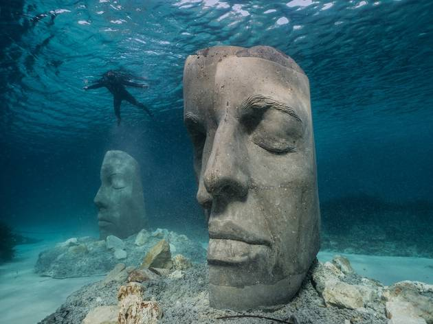 An underwater museum just opened off the coast of France
