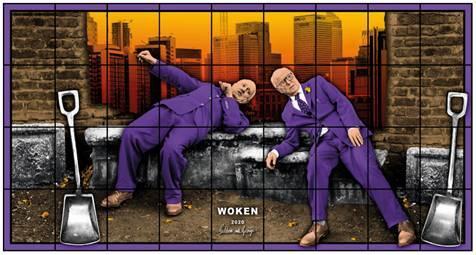 Gilbert & George, 'Woken' (2020). Credit: White Cube