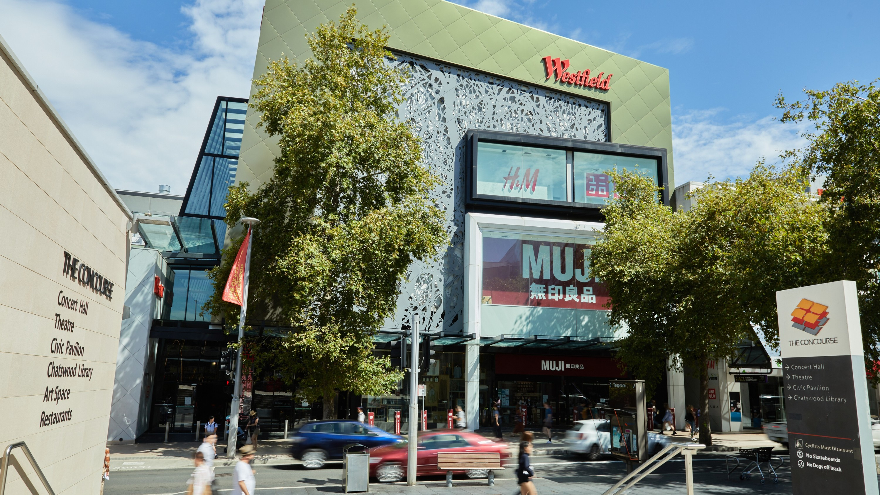 City centre with Muji store