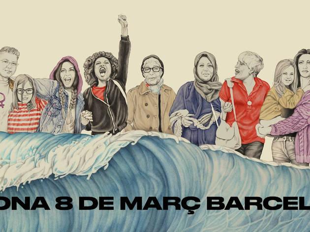 Cartell del 8M de 2021 a Barcelona