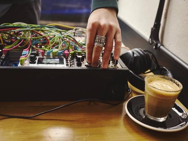 dj and coffee