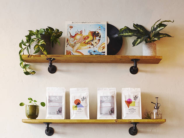 Coffee on shelf