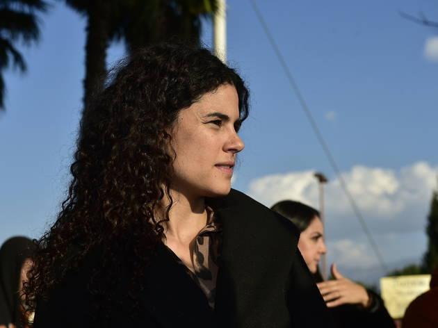 Retrato de perfil de Luisa María Alcalde