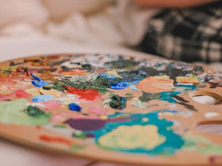 Pintar com tintas comestíveis