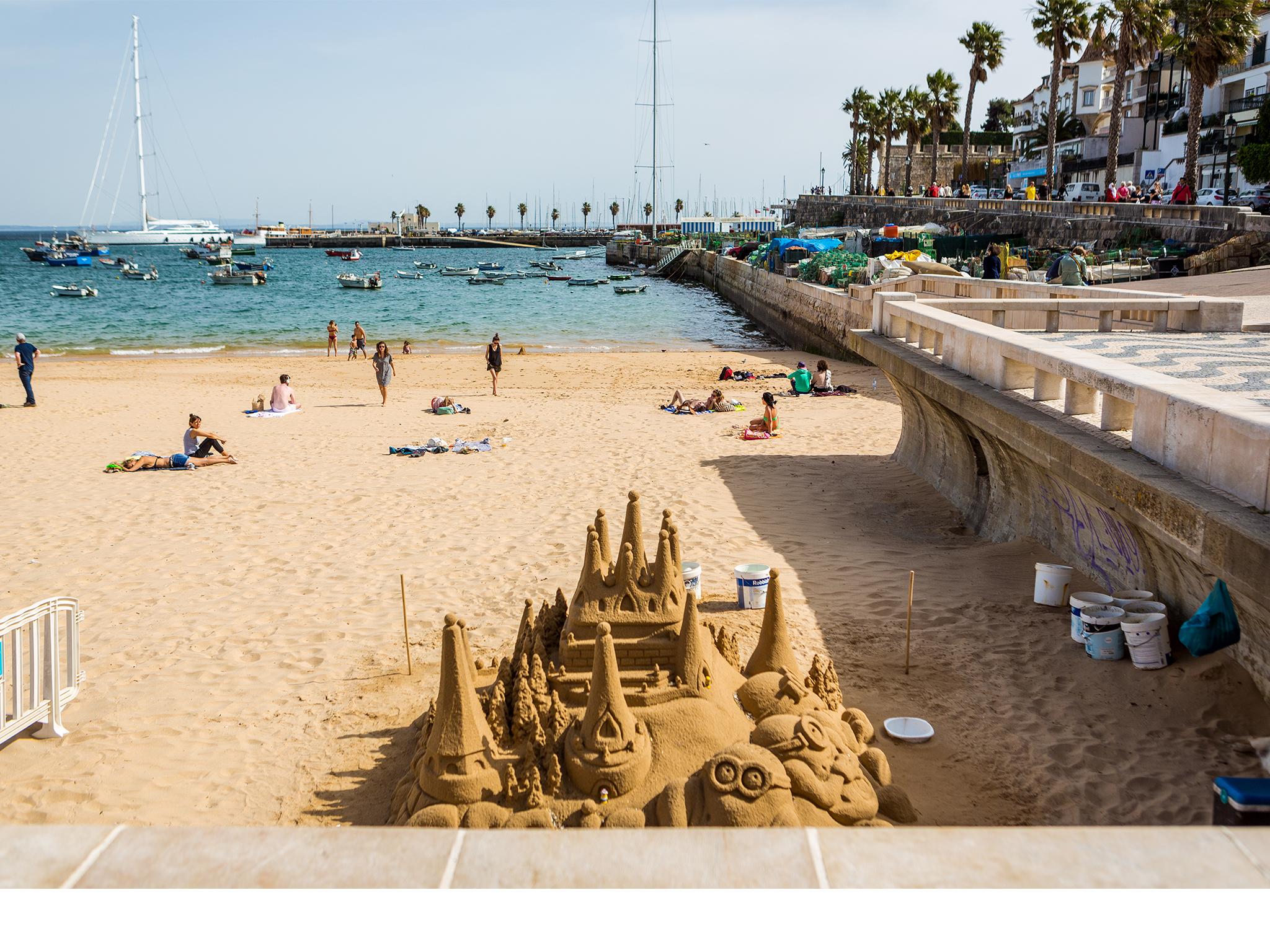 Marina de Cascais, Praia, Mar, Castelo de Areia