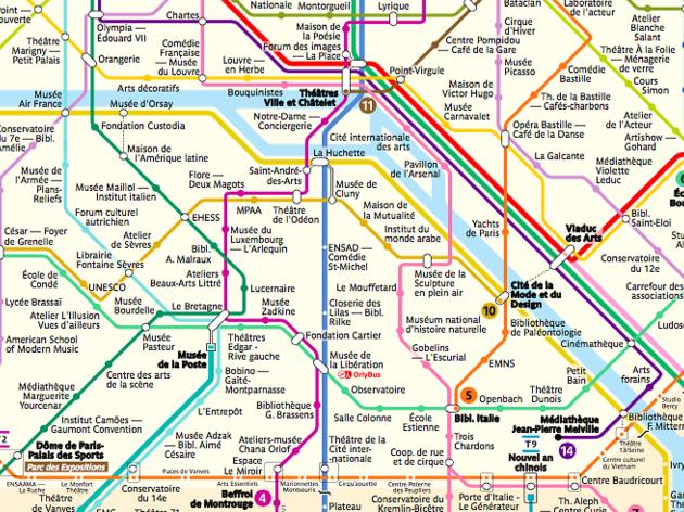 Paris : il invente une carte de métro recensant tous les spots culturels