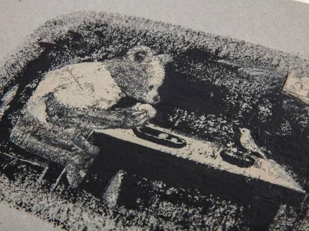 『くまとやまねこ』原画(河出書房新社、2008年)
