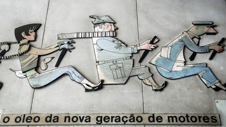 Publicidade da BP, ilustração de Fernando Bento