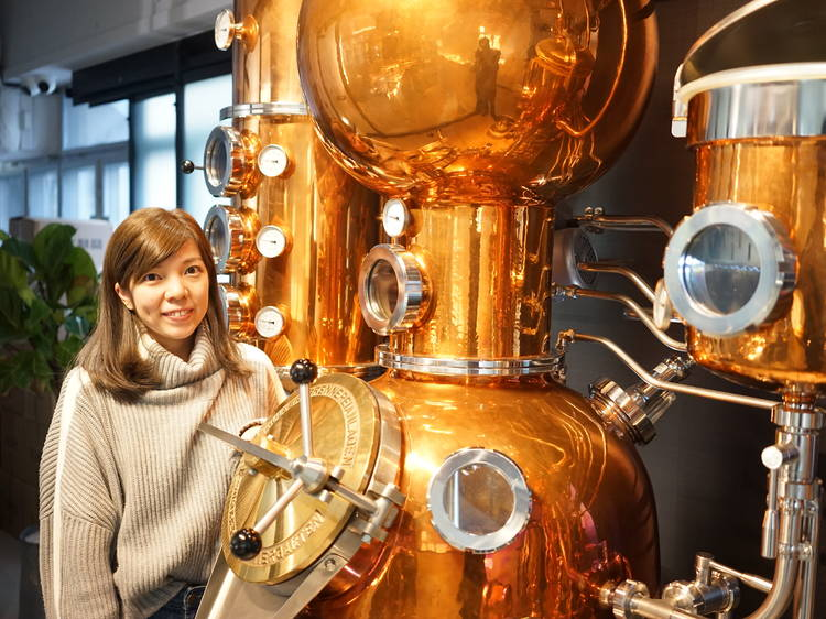 Dimple Yuen, head distiller and co-founder of Two Moons Distillery, 32 years old