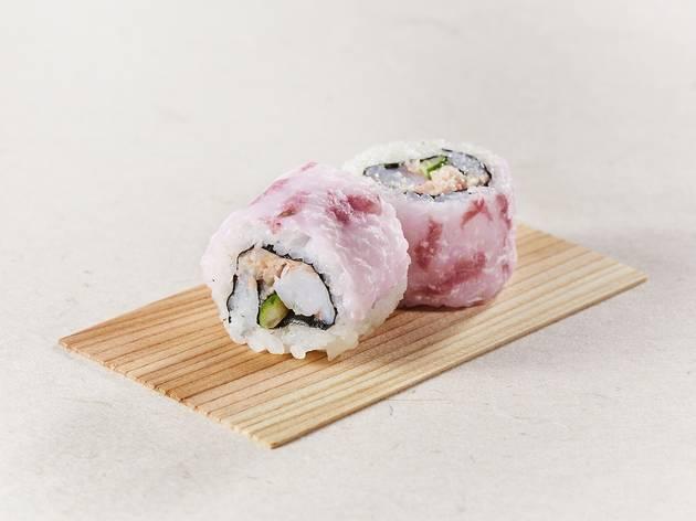 お花見ロール寿司弁当