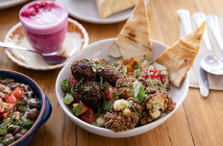Khamsa Cafe falafel (Photograph: Daniel Boud)