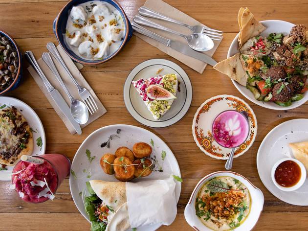 Khamsa Cafe food overview (Photograph: Daniel Boud)