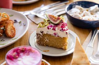 Khamsa Cafe fig cake (Photograph: Daniel Boud)