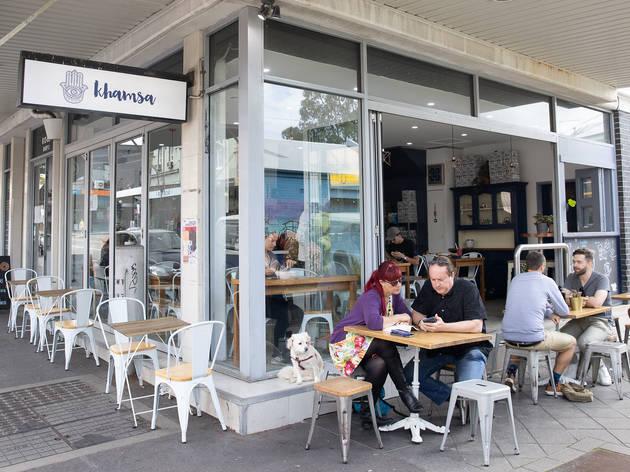 Khamsa Cafe exterior (Photograph: Daniel Boud)