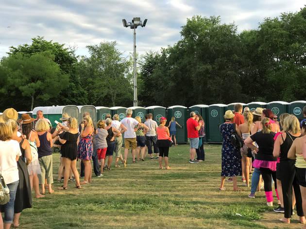 Baños en un festival
