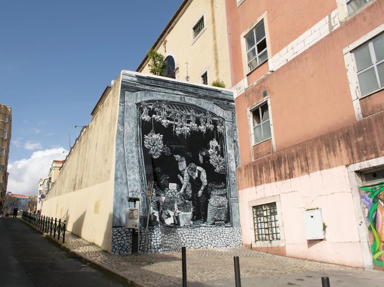 Mural em Arroios de Mariana Duarte Santos