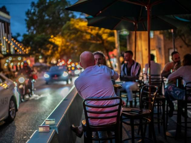 Dining on the street at Bills Surry Hills