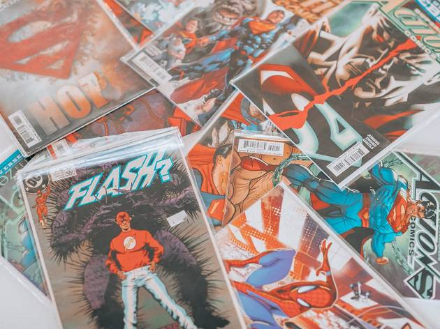 comics, comic books, flash, superman, spider-man